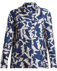 La Doublej Editions - Boy Donne-print Silk Shirt - Lyst