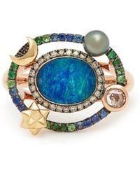 Bibi Van Der Velden - Galaxy 18kt Gold, Diamond & Opal Ring - Lyst