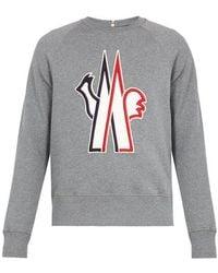 Moncler Grenoble - Logo-embroidered Cotton Sweatshirt - Lyst