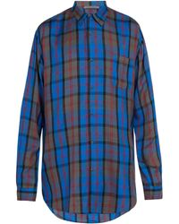 Denis Colomb - Checked Silk Shirt - Lyst