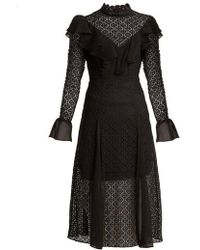 Temperley London - Prairie Ruffled Lace Dress - Lyst