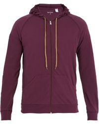 Paul Smith - Concealed-hood Zip-through Cotton Sweatshirt - Lyst