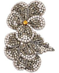Rochas - Crystal-embellished Flower Brooch - Lyst