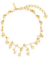 Oscar de la Renta - Constellation Crystal-embellished Necklace - Lyst