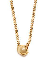Black Dakini - Bead Embellished Gold Vermeil Necklace - Lyst