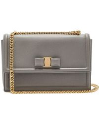 6e57e52c3d3d Ferragamo - Ginny Medium Leather Shoulder Bag - Lyst