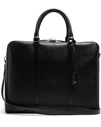 Tod's - Grained-leather Briefcase - Lyst