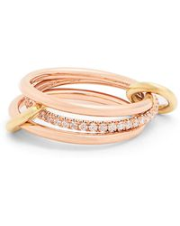 Spinelli Kilcollin - Sonny Diamond, Yellow & Rose Gold Ring - Lyst