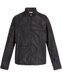 Bottega Veneta - Intrecciato-print Windbreaker Jacket - Lyst