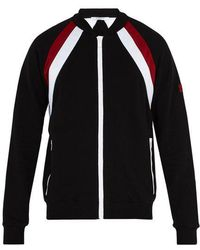 Givenchy - Double-stripe Cotton Track Top - Lyst