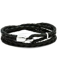 Miansai - Trice Braided-leather Bracelet - Lyst