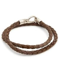 Tod's | Braided Leather Bracelet | Lyst