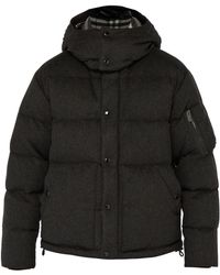 Burberry - Cashmere Down Filled Padded Jacket - Lyst