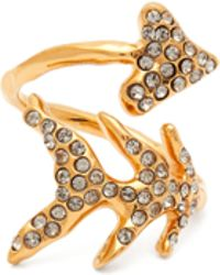 Givenchy - Crystal Embellished Arrow Ring - Lyst