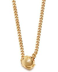Black Dakini - - Bead Embellished Gold Vermeil Necklace - Mens - Gold - Lyst