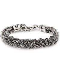 Emanuele Bicocchi - Braided Sterling Silver Bracelet - Lyst
