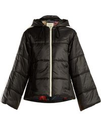 Gucci - Logo Ribbon Quilted Jacket - Lyst