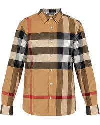 Burberry Short-sleeve Check Stretch Cotton Shirt - Multicolour