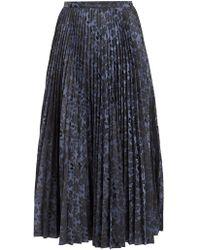 Erdem - Nesrine Pleated Floral-jacquard Midi Skirt - Lyst