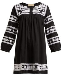 Muzungu Sisters - Taj Hand Embroidered Cotton Mini Dress - Lyst