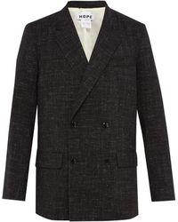Hope - Contrast Stitch Wool Blend Blazer - Lyst