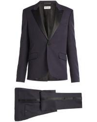 Saint Laurent - Satin-trimmed Virgin Wool Tuxedo - Lyst