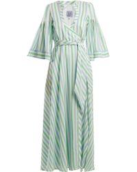 Thierry Colson - Sultane Striped Silk Maxi Dress - Lyst