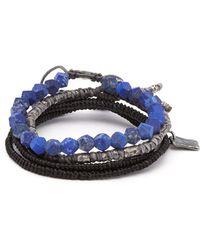 M. Cohen The Create Stack Ii Bead Embellished Bracelet - Blue