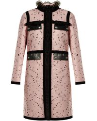 Giambattista Valli - Velvet-trimmed Bouclé Tweed Coat - Lyst