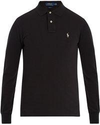Polo Ralph Lauren | Long-sleeved Cotton-piqué Polo Shirt | Lyst