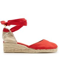 34b15cdc2c0 Lyst - Castaner Carina Canvas Wedge Espadrilles Tomato Red in Red