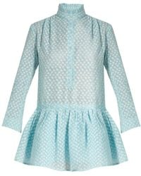 Thierry Colson - Lizbeth Fil Coupé Silk-gauze Dress - Lyst