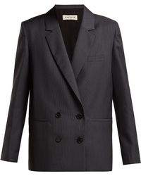 MASSCOB - Liv Prince Of Wales-checked Wool-blend Blazer - Lyst