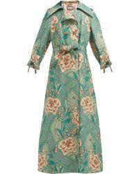 Gucci - Loraine Floral Print Linen And Cotton Blend Coat - Lyst