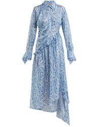 Preen By Thornton Bregazzi - Petunia Floral-print Asymmetric Dress - Lyst