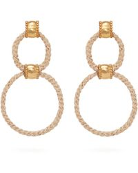 Elise Tsikis - Paralia Chain Link Gold Plated Drop Earrings - Lyst
