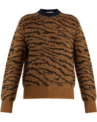 Toga | Animal-jacquard Wool-blend Sweater | Lyst