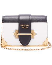 25bc6793f3e6 Lyst - Prada Cahier - Women s Prada Cahier Bags