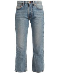 Bliss and Mischief - Cowboy-fit Bootcut Cropped Jeans - Lyst