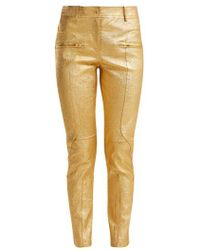 Sies Marjan - Brin Metallic-leather Biker Trousers - Lyst