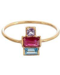 Loren Stewart - Ruby, Sapphire, Topaz & Yellow Gold Ring - Lyst