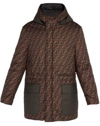Fendi - Reversible Printed Shell Parka Jacket - Lyst