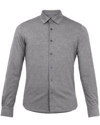 Ermenegildo Zegna - Single-cuff Cotton-piqué Shirt - Lyst