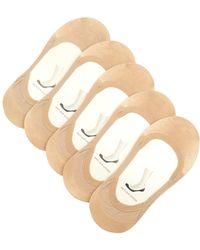 Falke - Set Of Five Step Invisible Liner Socks - Lyst