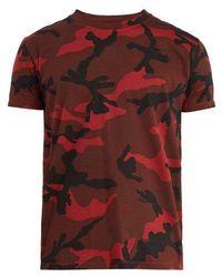 Valentino - Camouflage-print T-shirt - Lyst
