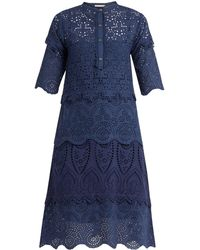 Queene And Belle - Arabella Broderie-anglaise Cotton Dress - Lyst