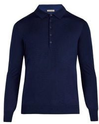 Bottega Veneta - Long-sleeved Wool Polo Shirt - Lyst