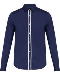 Paul Smith - Pinstripe Placket Cotton Blend Shirt - Lyst