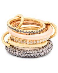 Spinelli Kilcollin - - Nexus Diamond, Silver & Gold Ring - Womens - Gold - Lyst