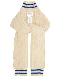 Maison Margiela - Cable Knit Cricket Inspired Scarf - Lyst